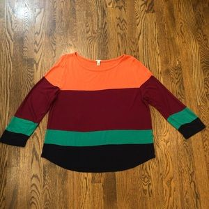 🖤J. Crew Colorblock Boatneck Sweater—XL